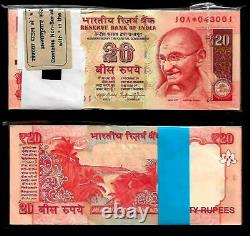 India Banknote Issue Replacement Issue Rs 20 Serial Packet GEM UNC 10A 2014