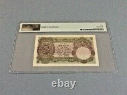 India British Administration 5 Rupees P-15a ND(1928-35) PMG 50 Staple Holes