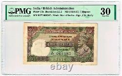 India Gov. Of India 5 Rupees ND (1928-35) Pick 15b Jhun3.5.2 PMG Very Fine 30