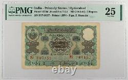 India Hyderabad 5 Rupees ND (1945-46) Pick S273d. PMG 25. VF / VERY FINE