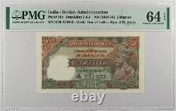 India. P-15b. 5 Ruppes. ND(1928-1935). PMG 64 EPQ. CHOICE UNC