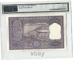 India Pick 45 1962-67 100 Rupees Ab/38 617629 Pmg 65 Epq Gem Uncirculated