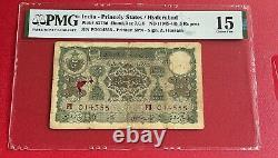 India Princely States / Hyderabad -5 Rupee, nd 1945-45 PMG 15 Pick 273 D