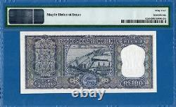 India, Reserve Bank, 100 Rupees, 1962-67, UNC-PMG64, P62a