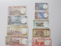 Indian Rupee Currency Paper Money Bank Note 1-2-5-10-20-50-100-500-1000 set of 9