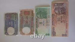 Indian Rupee Currency Paper Money Bank Note 1-2-5-10- set of 4 Crisp
