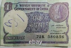 Indian one Rupees Note 38 years Old