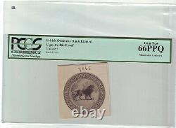 KGV British India Rs 50 JBT, issued 1927, border restored +vignette pcgs curr 66