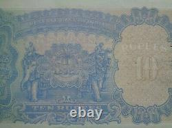 ND 1937 India British 10 Rupees banknote Nice condition