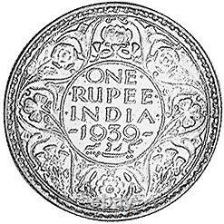 One Rupees 1939 Extremly Rare Coin Unc Condition India
