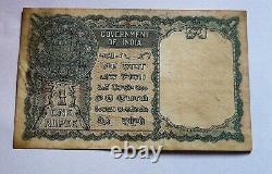 One Rupees Ce Jones Red Serial Number Extremly Rare Note India