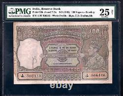 Pick# 20b JHUN 4.7.2A ND(1943) 100 RUPEES BOMBAY PMG 25 Rare Deshmukh Sign