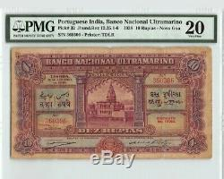 Portuguese India 10 rupia1938 Nova Goa VF 20 PMG