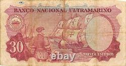 Portuguese India 30 Escudos 24.1.1959 P 41 Circulated Banknote LAX
