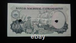 Portuguese India 60 Escudos 2.1.1959 AUNC (punch holes) RARE