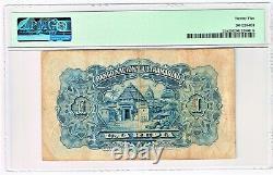 Portuguese India Nova Goa 1 Rupia 1.1.1924 (ND 1929)Pick 23A, PMG Very Fine 25
