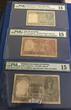 RARE BRITISH INDIA RS 1,2 5 Rs Over Print Pak Rare Pick 1,1 A, 2