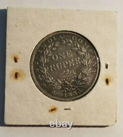 Rare British India 1 Rupee 1835 William IV SILVER COIN ORIGINAL LCC PACKAGING