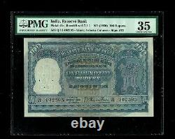 Republic India 100 Rupees 1950 1st Issue P41a PMG-35