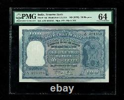 Republic India 100 Rupees 1951 2nd Issue P42a PMG-64