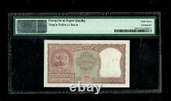 Republic India 2 Rupee 1st Issue 1950 P#27 Superb Gem-67