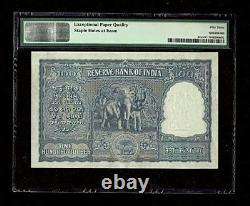Republic Of India 100 Rs Incorrect Hindi 1951 Pick#42a PMG-53EPQ