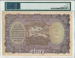 Reserve Bank India 1000 Rupees ND(1937) Bombay PMG 40