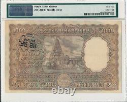 Reserve Bank India 1000 Rupees ND(1954-57) Prefix A Bombay PMG 35