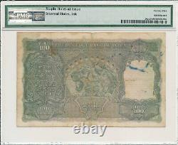 Reserve Bank India 100 Rupees ND(1937) Cawnpore PMG 25NET