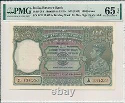 Reserve Bank India 100 Rupees ND(1943) Bombay PMG 65EPQ