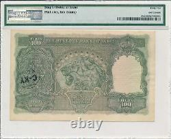 Reserve Bank India 100 Rupees ND(1943) Madras PMG 45