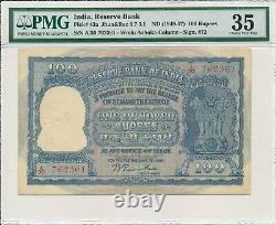 Reserve Bank India 100 Rupees ND(1949-57) PMG 35