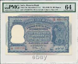 Reserve Bank India 100 Rupees ND(1949-57) PMG 64