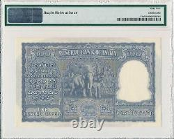 Reserve Bank India 100 Rupees ND(1949-57) S/No x8876x PMG 64