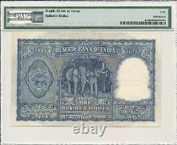 Reserve Bank India 100 Rupees ND(1950) PMG 40