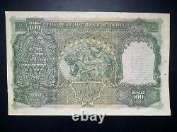 Reserve Bank of India, 100 rupees, ND (1937), Bombay, Pick 20e