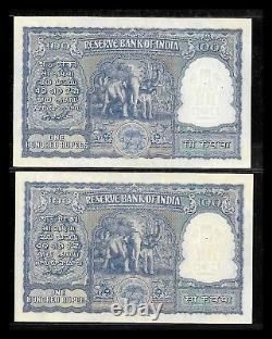 Rs 100/- 1950S Issue RAMARAU Elephant Issue A Prefix BOMBAY Mint! RUPPIYA