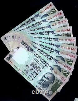 Rs 100/- SOLID NUMBER SET TELESCOPE Issue 111111 999999 GEM UNC RARE
