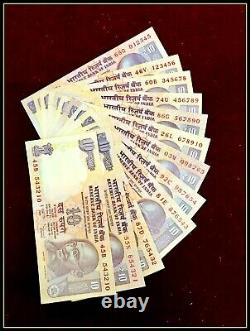 Rs 10/- SOLID CLIMBING NUMBER SET 012345 TO 678910 & Reverse GEM UNC old Issue