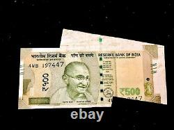 Rs 500/-India Banknote Misprint/Error EXTRA PAPER LATEST ISSUE