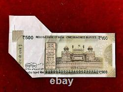 Rs 500/-India Banknote Misprint/Error EXTRA PAPER LATEST ISSUE ULTRA Unique