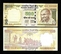 Rs. 500/- OLD ISSUE SUPER SOLID 5GG 555555 GEM UNC UNIQUE