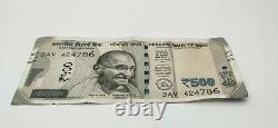 Special India 500 Rupees Bank Note Rs 500- Uncirculated New Indian Currency x786